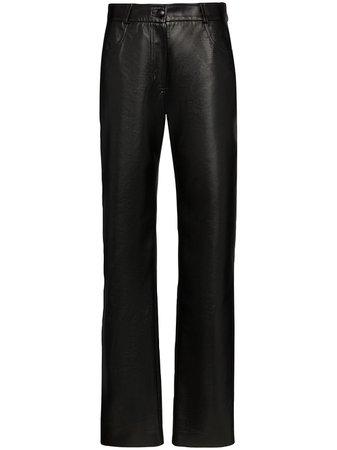 Matériel Pantalones Rectos De Talle Alto - Farfetch