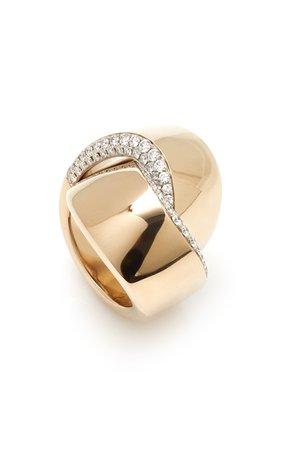 Vhernier 18K White Gold Abbraccio Ring Size: 4