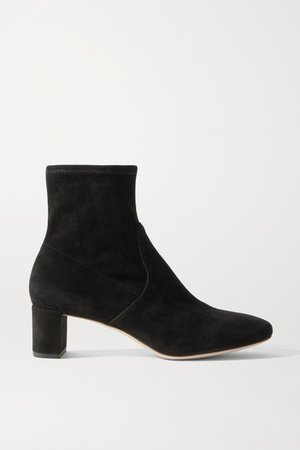 Cynthia Suede Ankle Boots - Black