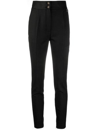 Dolce & Gabbana Logo Plaque Skinny Trousers - Farfetch