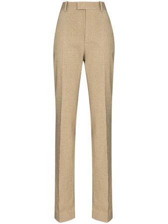 Bottega Veneta high-waisted straight-leg trousers - FARFETCH