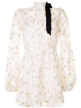 Corsage Dress in Ivory by macgraw