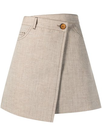 Acne Studios Wrap Short Skirt - Farfetch