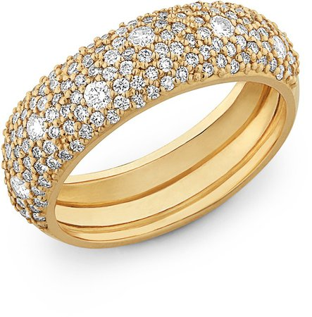 Curve Pave Diamond Ring