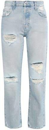 The Original Distressed High-rise Straight-leg Jeans
