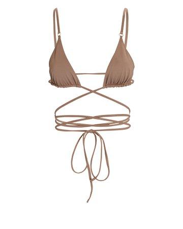 Palm Swimwear Talise Tie Bikini Top | INTERMIX®
