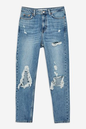 Bleached Ripped Mom Jeans - Mom Jeans - Jeans - Topshop