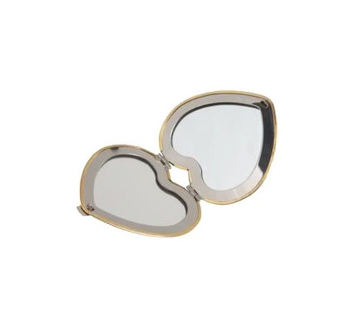 Silver heart mirror