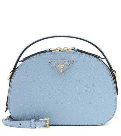 Odette Leather Shoulder Bag - Prada | Mytheresa