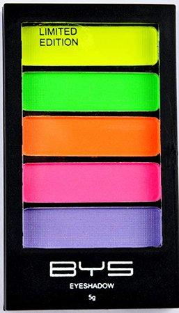 BYS 5 Shade Neons Eyeshadow Compact Eye Makeup