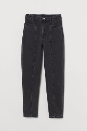 Mom Loose-fit High Jeans - Gray