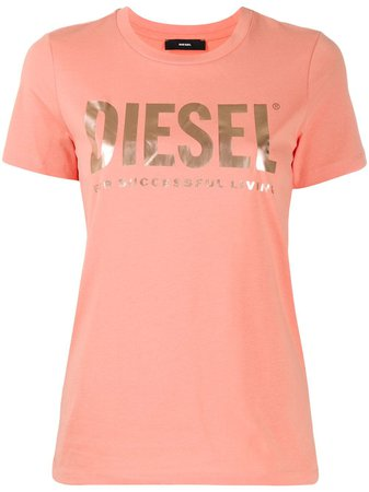 Diesel logo-print slim-fit T-shirt - Farfetch