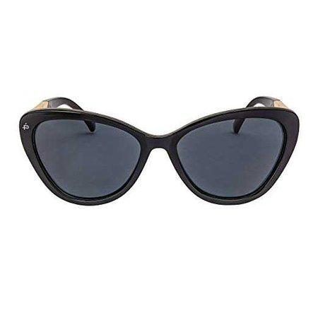 "Amazon.com: PRIVÉ REVAUX ICON Collection ""The Hepburn"" Handcrafted Designer Polarized Retro Cat-Eye Sunglasses (Black): Clothing"