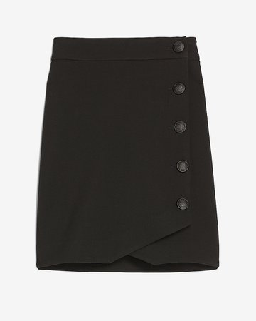 High Waisted Button Side Pencil Skirt | Express