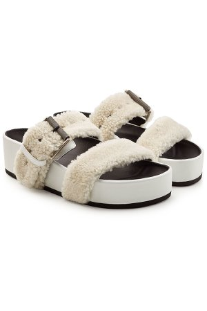 Evin Leather Sandals with Shearling Gr. IT 37