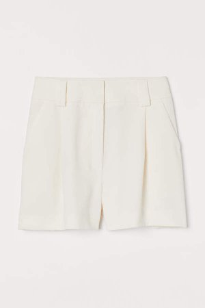 Tailored Shorts - White