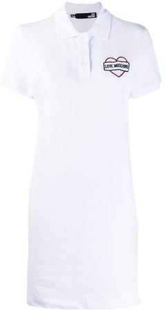 logo print polo dress