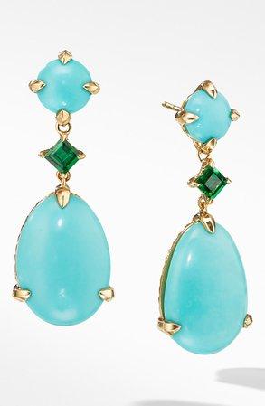 David Yurman Chatelaine® Drop Earrings in 18k Yellow Gold | Nordstrom