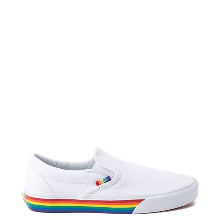 Vans Slip On Rainbow Skate Shoe | Journeys