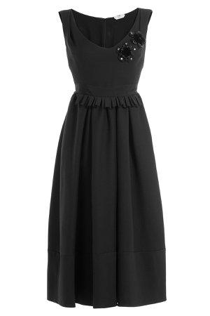 Embellished Wool-Silk Cocktail Dress Gr. IT 40