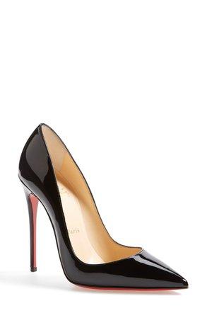 Christian Louboutin black stilettos