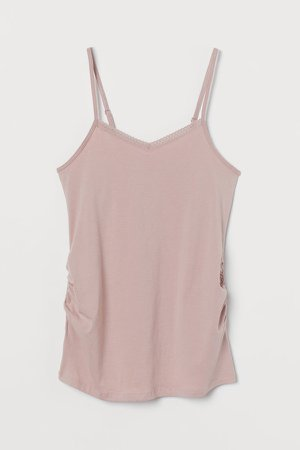 MAMA Cotton Camisole Top - Pink