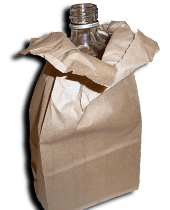 Alcohol in paper bag png