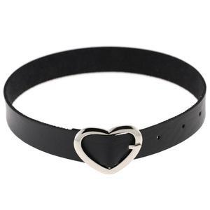 Cute Heart Buckle Collar
