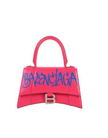Balenciaga Pink Hourglass Top Handle Bag