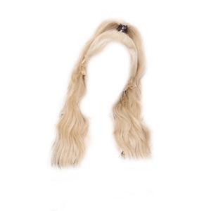 Blonde Hair PNG Half Up