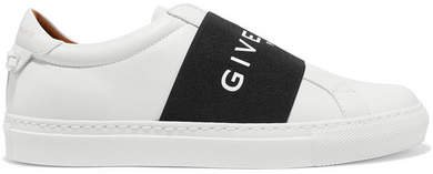 Urban Street Logo-print Leather Slip-on Sneakers - White