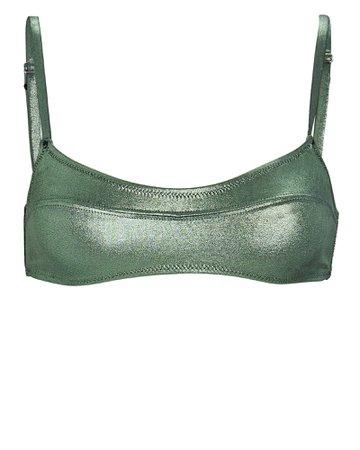 Solid & Striped Elsa Metallic Bikini Top | INTERMIX®