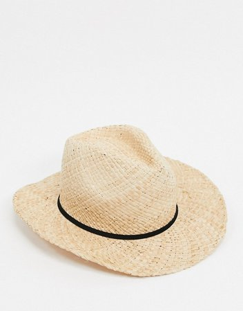 Bershka natural straw hat in brown | ASOS