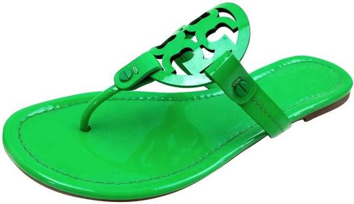 Online Sale Tory Burch Green Patent Shoes Green Patent Miller Sandals - Canada outlet shop -