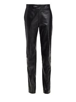 Helmut Lang leather suit pants