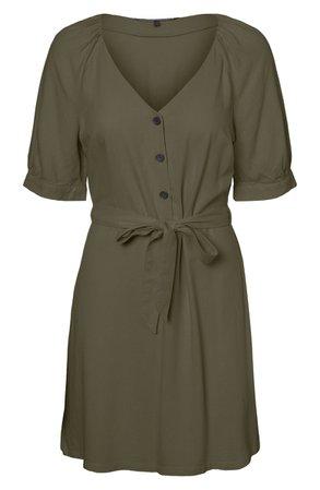 Vero Moda Day Puff Sleeve Linen Blend Minidress | Nordstrom