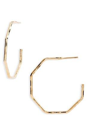Argento Vivo Small Hammered Geo Hoop Earrings | Nordstrom
