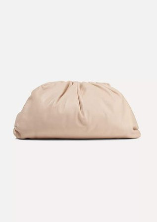 The Pouch Large Leather Clutch - Neutral