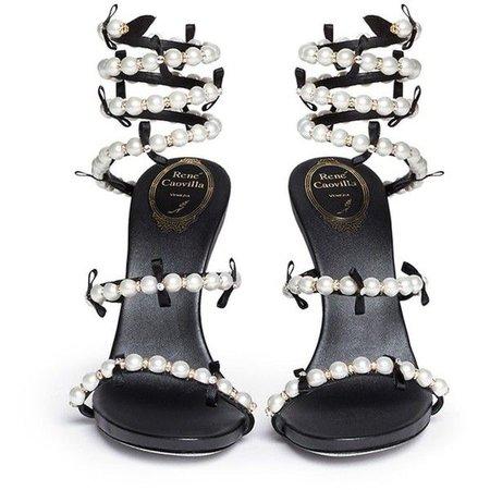 RENE CAOVILLA 'Snake' strass pave spring coil sandals ($1,320)