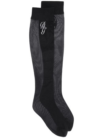 Dolce & Gabbana Mesh Detail Long Socks - Farfetch