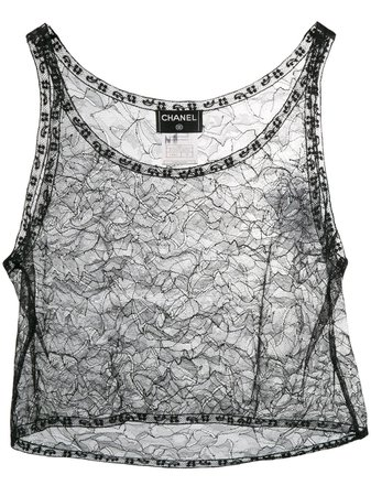 Chanel Pre-Owned 2000's Lace Cropped Top For Women | Farfetch.com