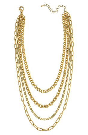 Canvas Jewelry Anaise Layered Chain Necklace | Nordstrom