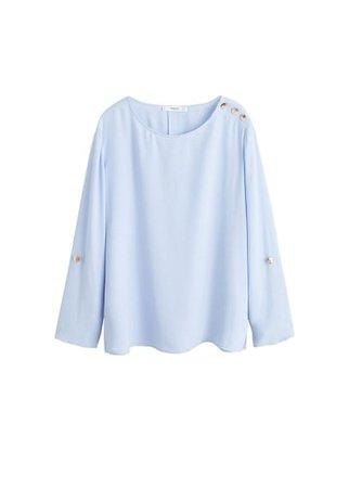MANGO Buttons detail blouse