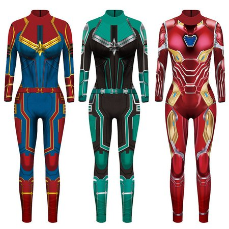 VIP FASHION 2019 New 3D Super Hero Captain Costume Cosplay Women Marvel Movie Jumpsuit Costumes For Women Plus Size Jumpsuit on Aliexpress.com | Alibaba Group
