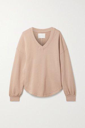 Vivienne Cotton-jersey Sweatshirt - Beige