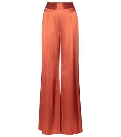 Lido High-Rise Wide-Leg Satin Pants - Galvan | Mytheresa