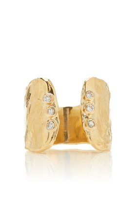 Fie Isolde Odette Signet Gold Ring Size: 3.5