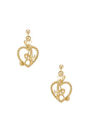 The Sweetheart A Initial Earrings