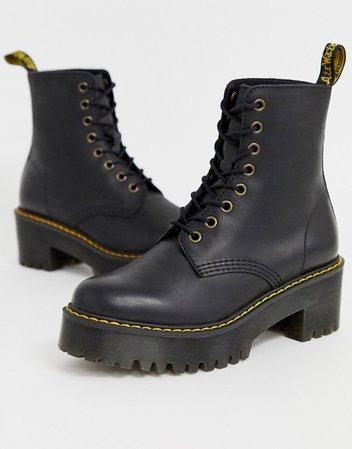 Dr Martens Shriver Hi Wyoming heeled ankle boots in black | ASOS