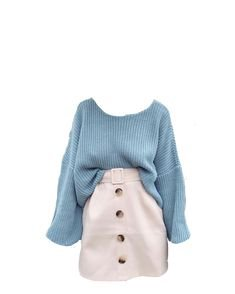 Blue cream polyvore moodboard filler outfit (With images) | Fashion outfits, Aesthetic clothes, Clothes